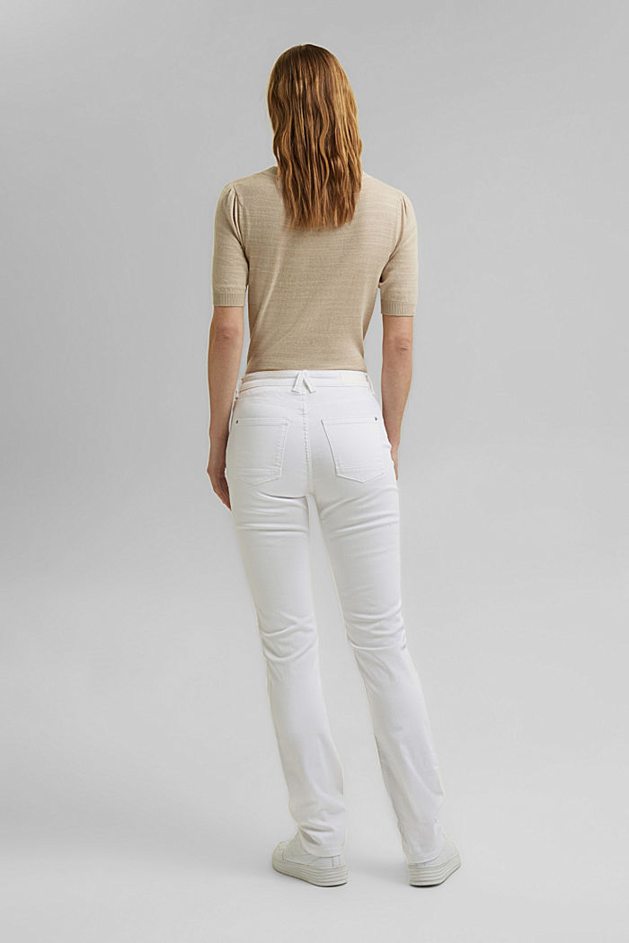 Stretch jeans in organic cotton, WHITE, detail image number 3