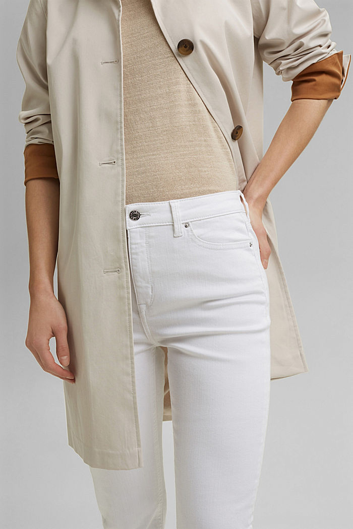Stretch jeans in organic cotton, WHITE, detail image number 2