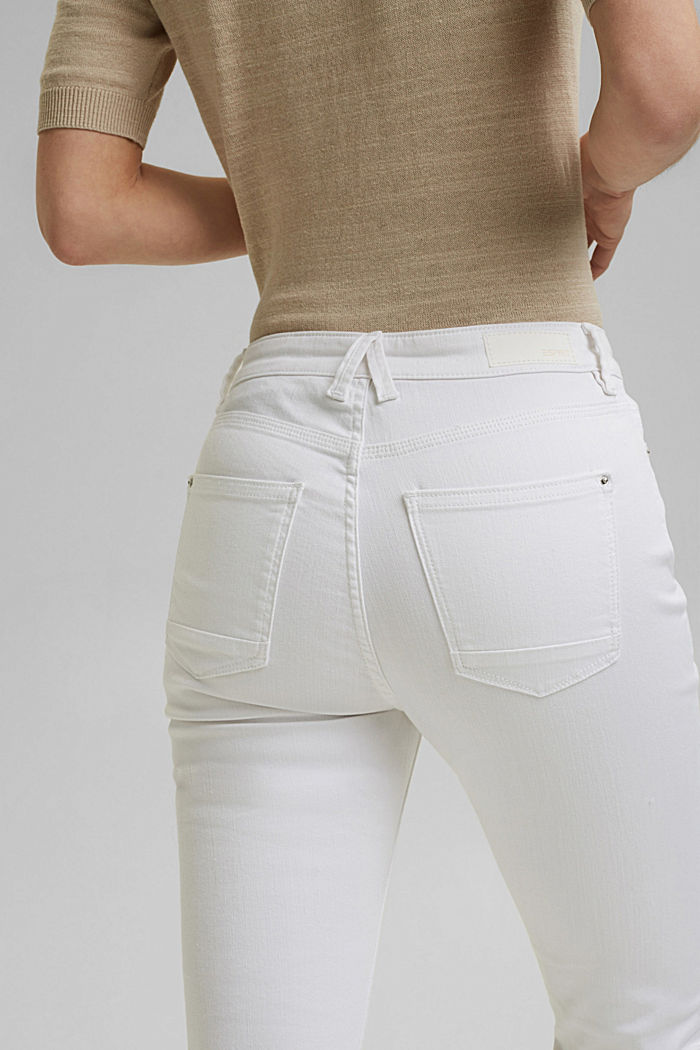 Stretch jeans in organic cotton, WHITE, detail image number 5
