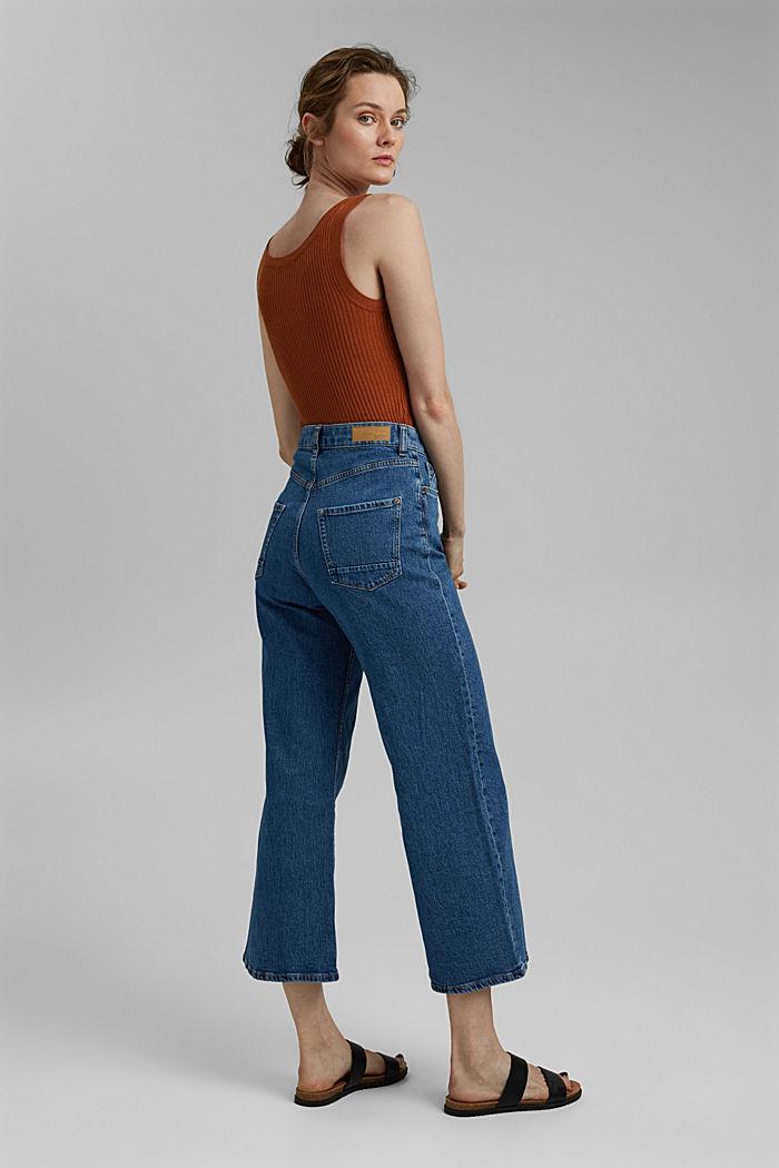 Wide leg cropped jeans, BLUE MEDIUM WASHED, detail image number 3