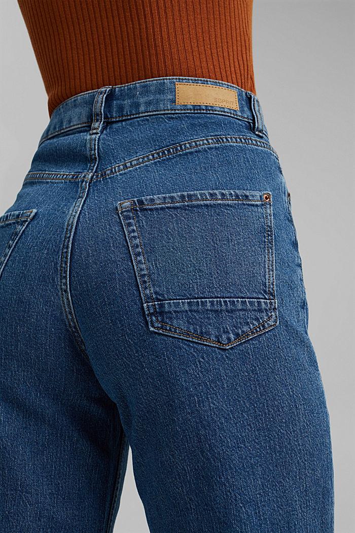 Wide leg cropped jeans, BLUE MEDIUM WASHED, detail image number 2