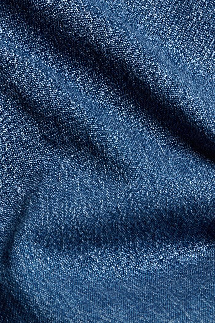Wide leg cropped jeans, BLUE MEDIUM WASHED, detail image number 4