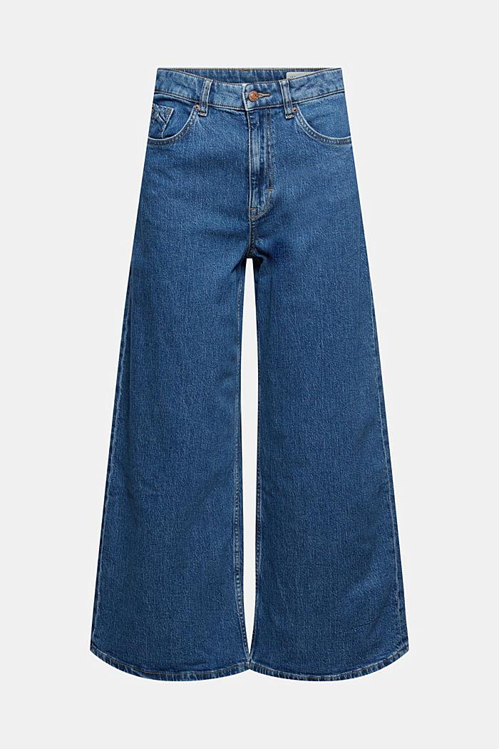 Wide leg cropped jeans, BLUE MEDIUM WASHED, detail image number 6