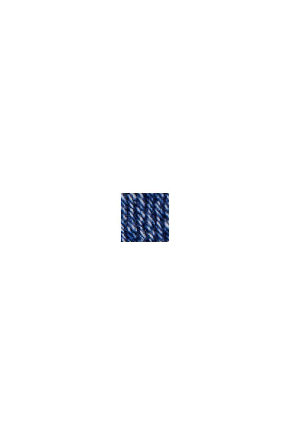 Stretchjeans met splitten, biologisch katoen, BLUE MEDIUM WASHED, swatch