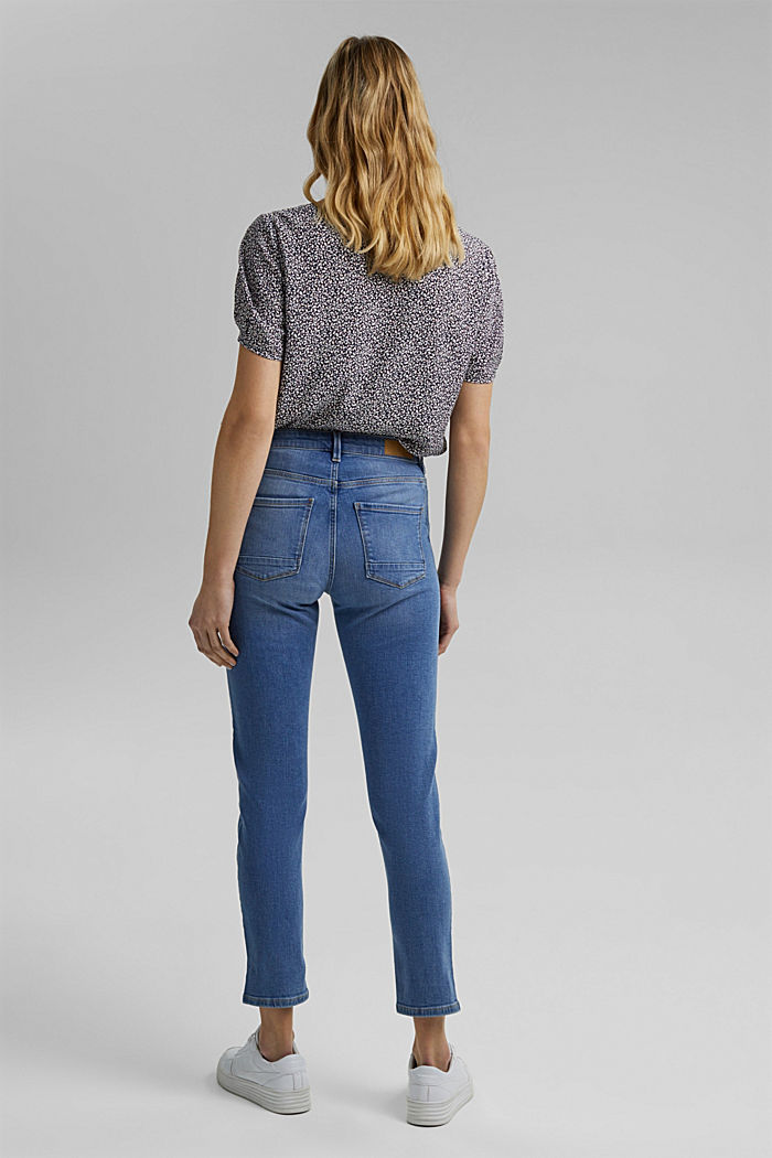 Stretch-Jeans mit Schlitzen, Organic Cotton, BLUE LIGHT WASHED, detail image number 3