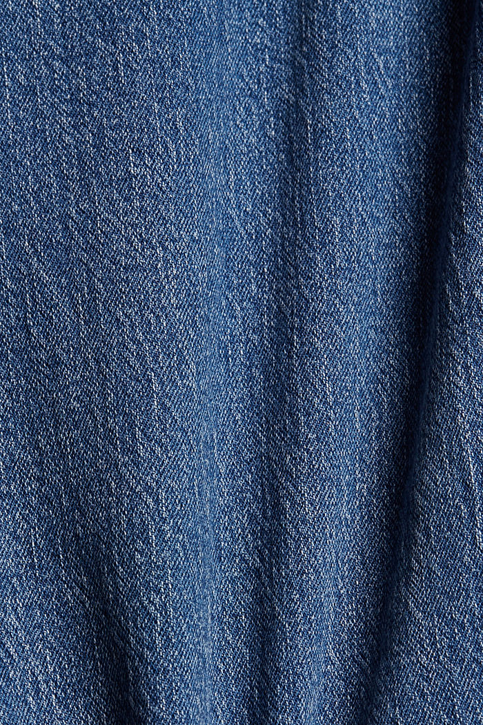 Cropped jeans van biologisch katoen, BLUE MEDIUM WASHED, detail image number 4
