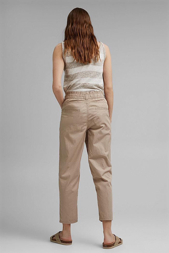 High-Rise-Hose aus 100% Bio-Baumwolle, BEIGE, detail image number 3