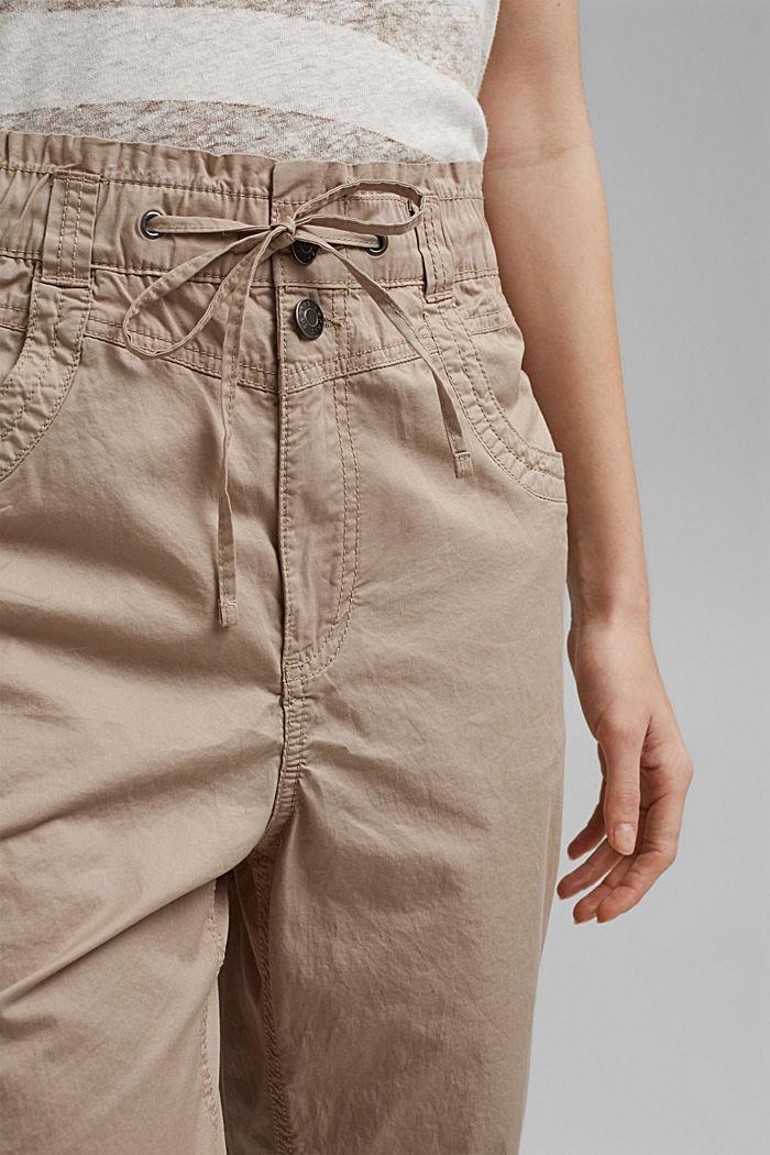 High-Rise-Hose aus 100% Bio-Baumwolle, BEIGE, detail image number 2