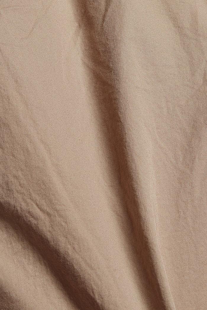 High-Rise-Hose aus 100% Bio-Baumwolle, BEIGE, detail image number 4