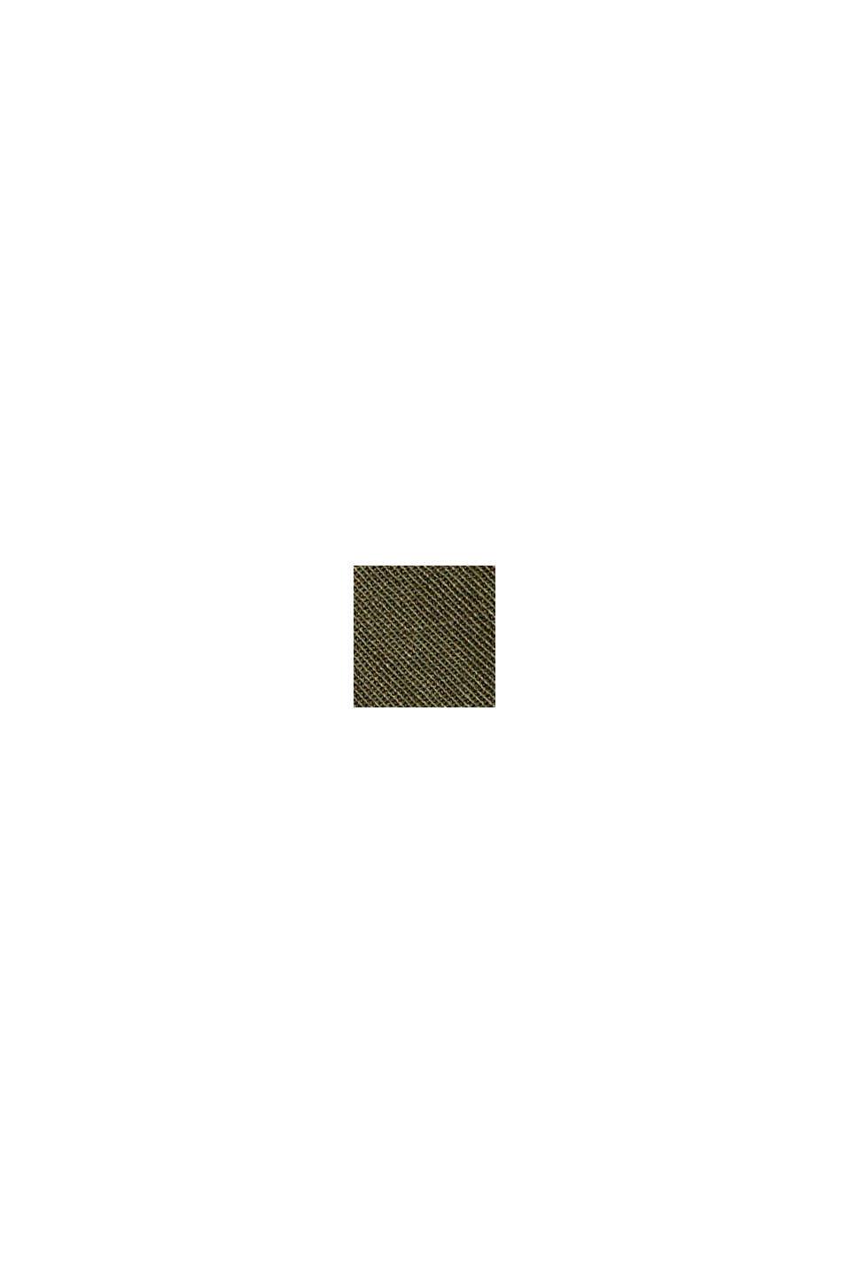 High-rise-broek van 100% biologisch katoen, KHAKI GREEN, swatch