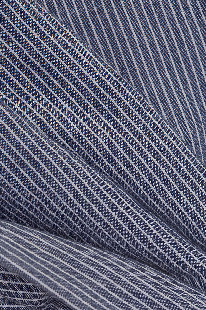 Linen blend: striped tracksuit bottoms, DARK BLUE, detail image number 4