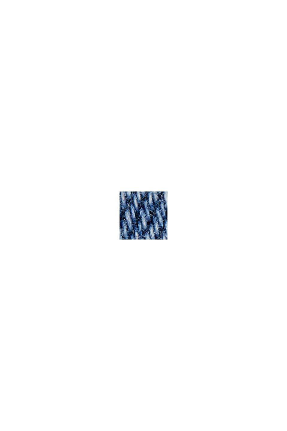 Capri-jeans van biologisch katoen, BLUE MEDIUM WASHED, swatch