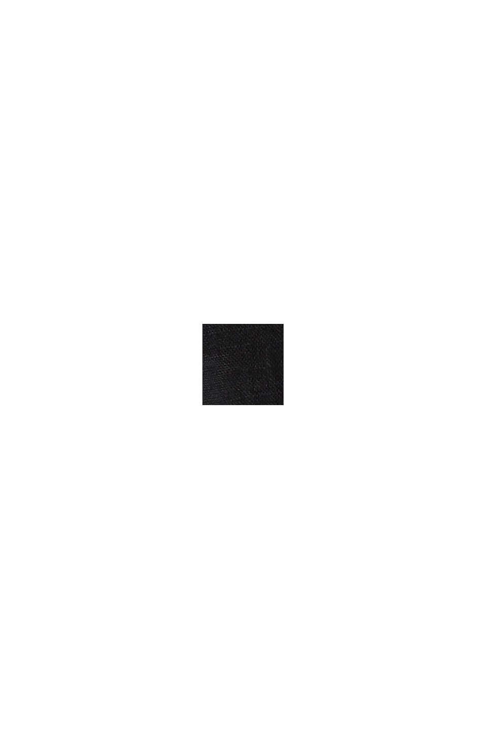 En 100% lino: pantalón con cintura elástica, BLACK, swatch