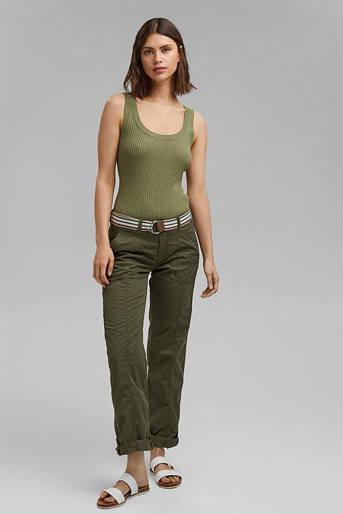 Pantalón PLAY con cinturón, algodón ecológico