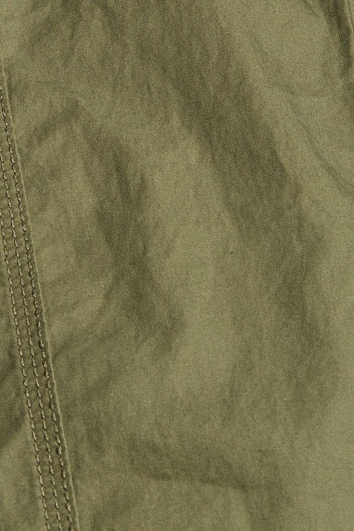 PLAY-broek met riem, organic cotton, KHAKI GREEN, detail image number 4