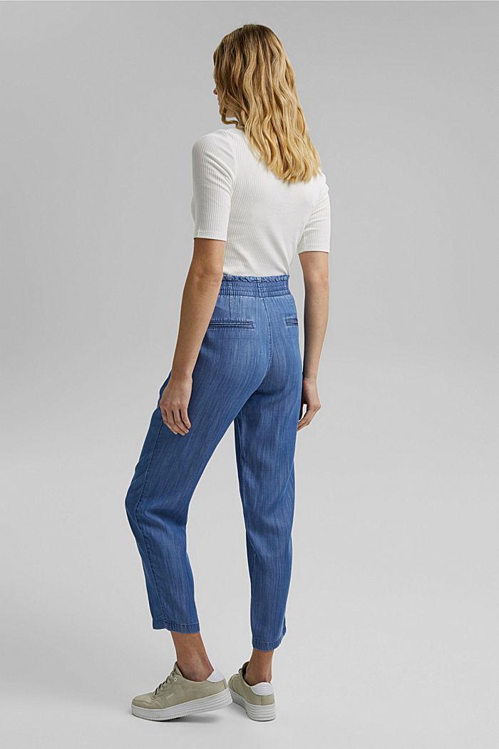 Aus TENCEL™: Jogg-Hose im Jeans-Look, BLUE MEDIUM WASHED, detail image number 3