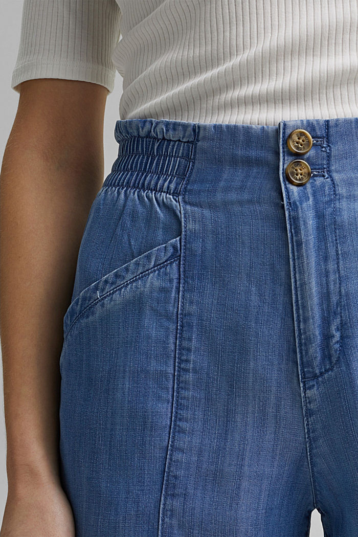 Aus TENCEL™: Jogg-Hose im Jeans-Look, BLUE MEDIUM WASHED, detail image number 2