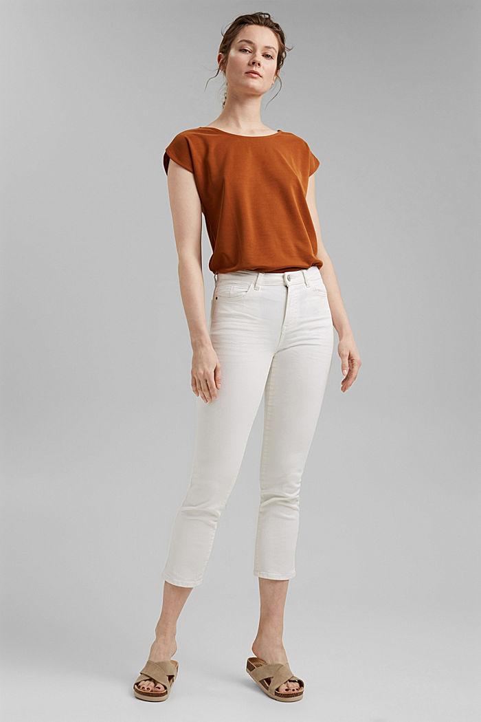 Cropped Hose mit geradem Bein, OFF WHITE, detail image number 1