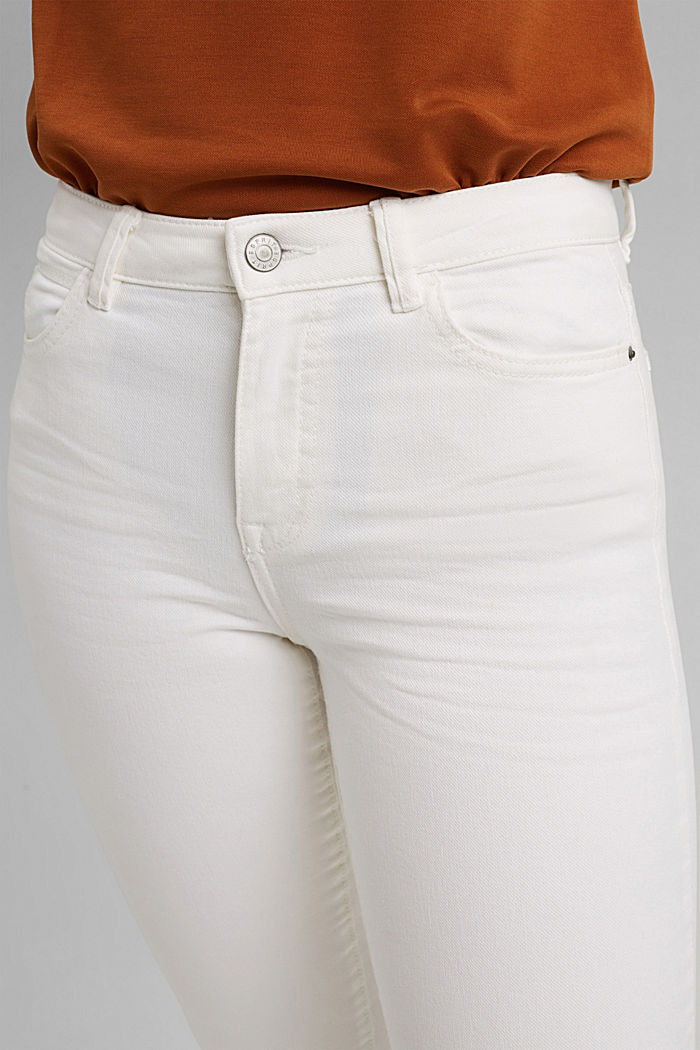Cropped trousers with straight legs, OFF WHITE, detail image number 2