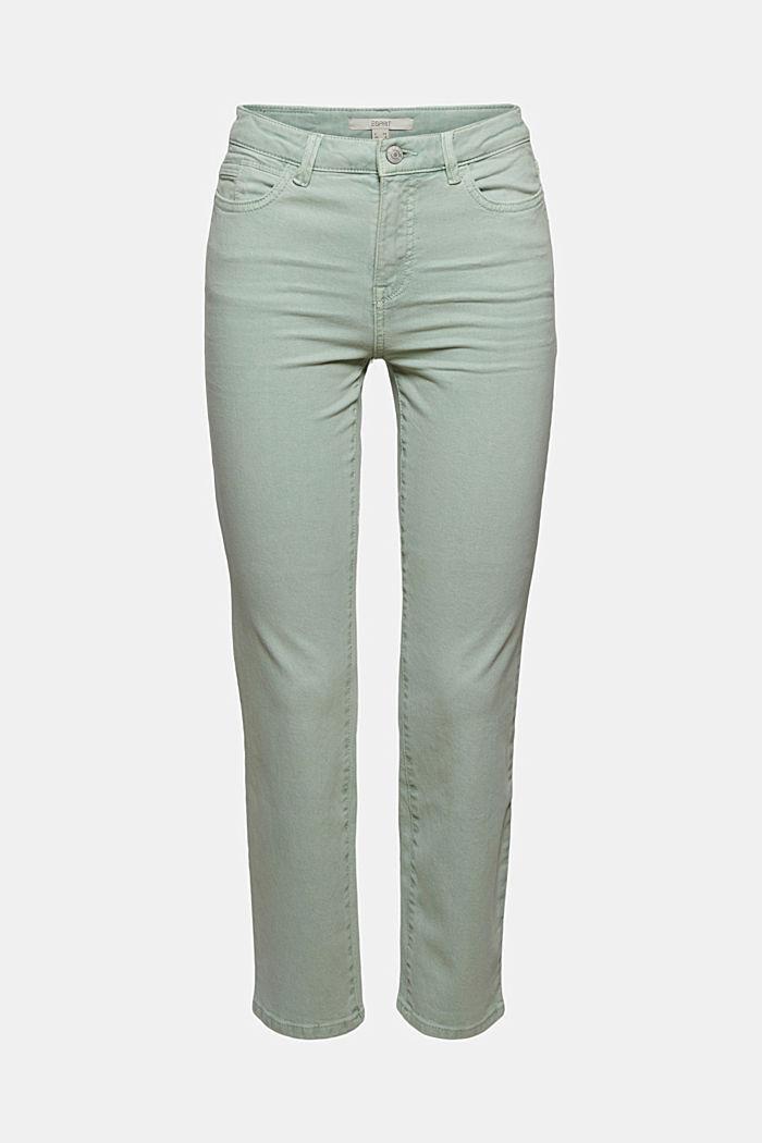 Cropped broek met rechte pijpen