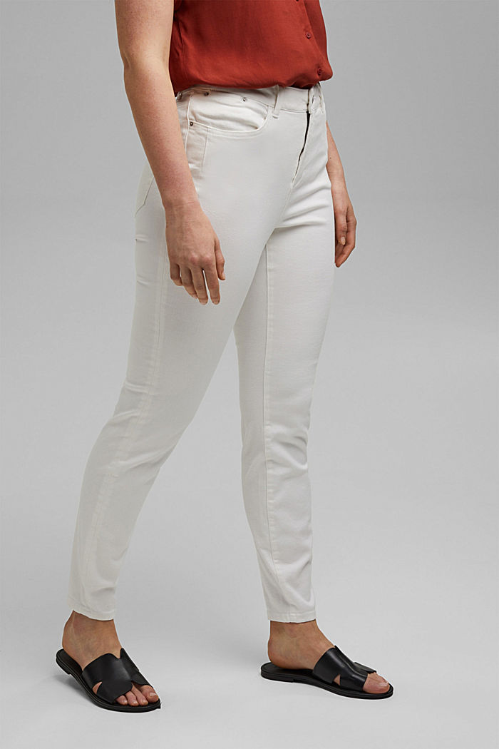 CURVY shaping jeans with organic cotton, WHITE, detail image number 0