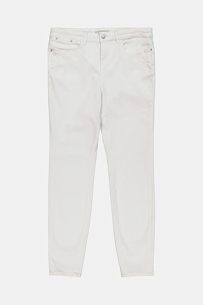 CURVY shaping jeans with organic cotton, WHITE, detail image number 1