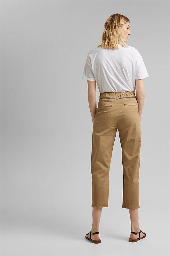 Pantalon Utility ceinturé, coton Pima, CAMEL, detail image number 3