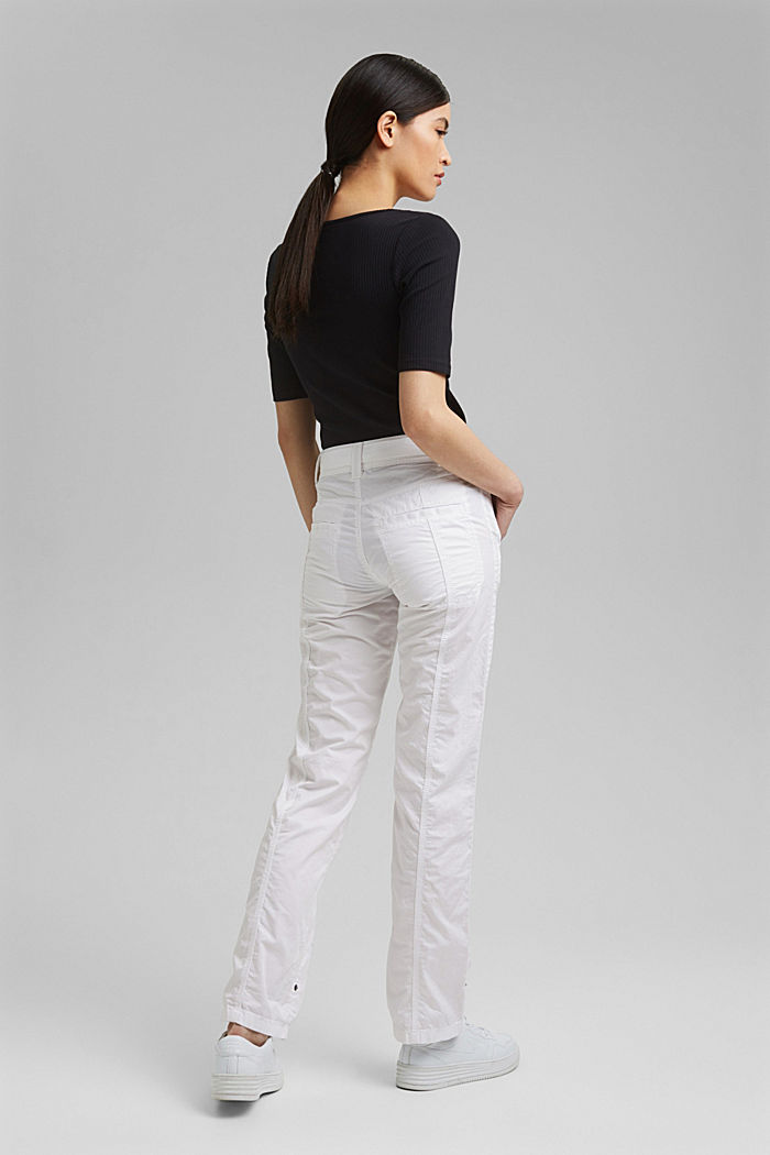 PLAY cargo trousers, 100% organic cotton, WHITE, detail image number 3