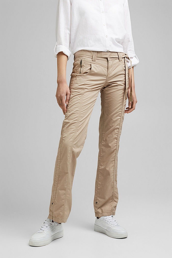 PLAY pantalones cargo, 100% algodón ecológico, BEIGE, detail image number 0