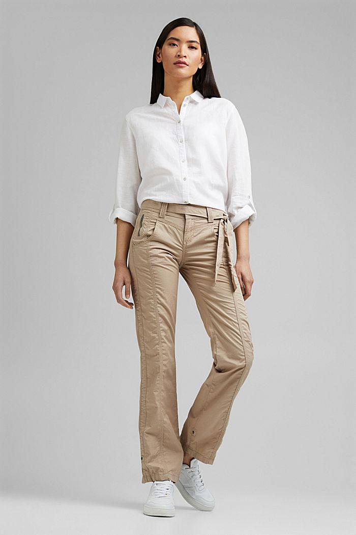 PLAY pantalones cargo, 100% algodón ecológico, BEIGE, detail image number 1