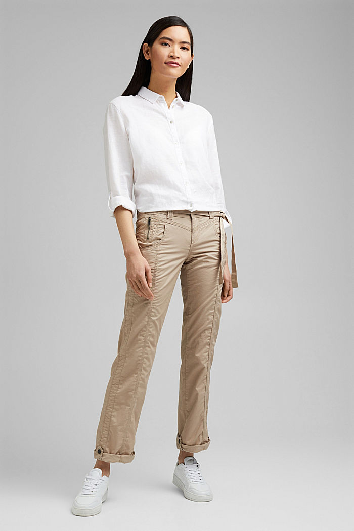 PLAY pantalones cargo, 100% algodón ecológico, BEIGE, detail image number 5