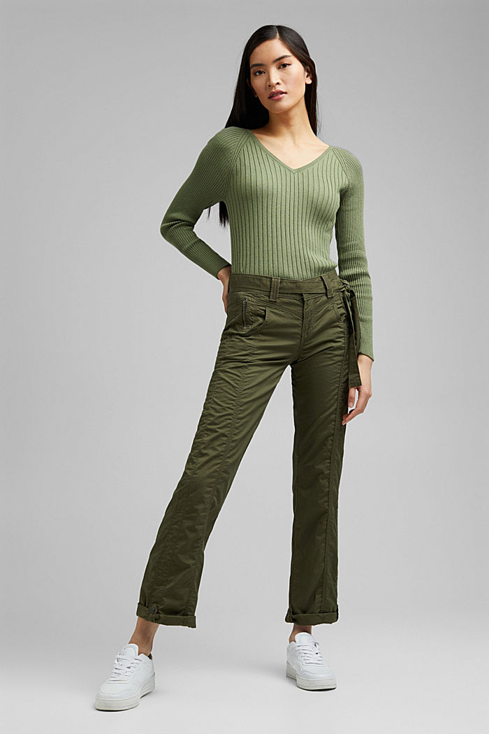 PLAY Cargohose, 100% Organic Cotton, KHAKI GREEN, detail image number 0