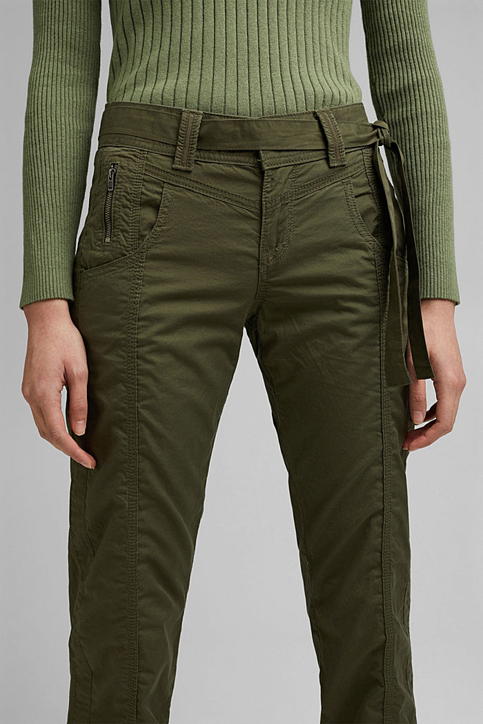 PLAY Cargohose, 100% Organic Cotton, KHAKI GREEN, detail image number 1