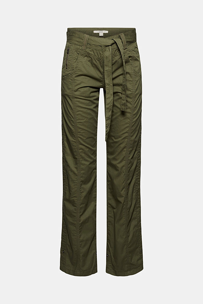 PLAY Cargohose, 100% Organic Cotton, KHAKI GREEN, detail image number 4