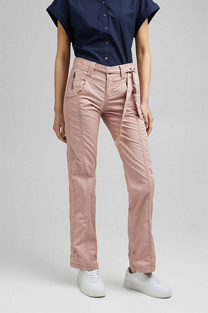 PLAY cargo trousers, 100% organic cotton, OLD PINK, detail image number 0