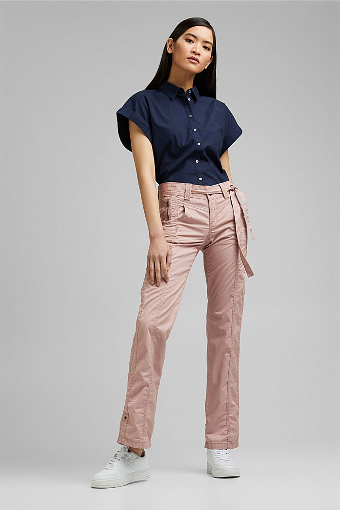 PLAY cargo trousers, 100% organic cotton, OLD PINK, detail image number 1