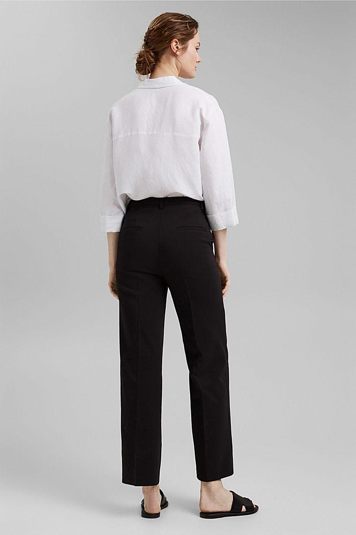 Pantalon business en coton mélangé, BLACK, detail image number 3