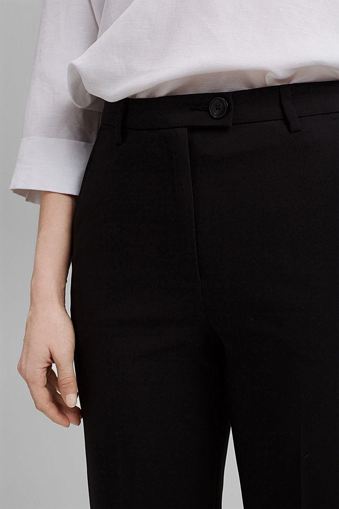 Pantalon business en coton mélangé, BLACK, detail image number 2