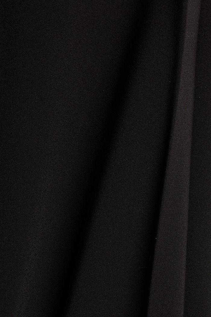 Pantalon business en coton mélangé, BLACK, detail image number 4