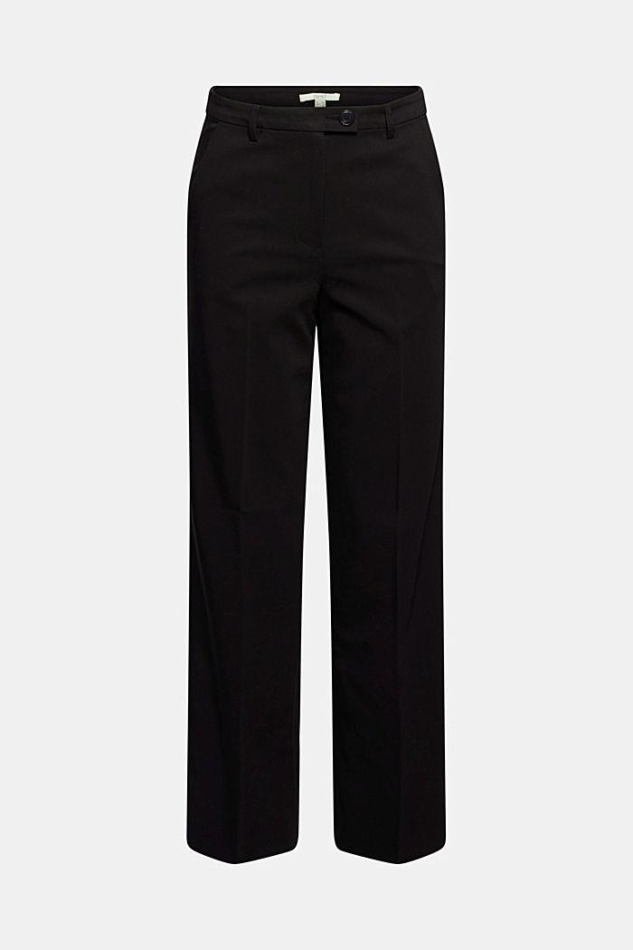 Pantalon business en coton mélangé, BLACK, detail image number 6