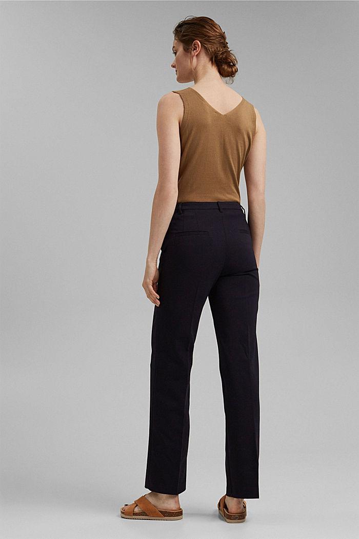 Business pantalon van een katoenmix, NAVY, detail image number 3