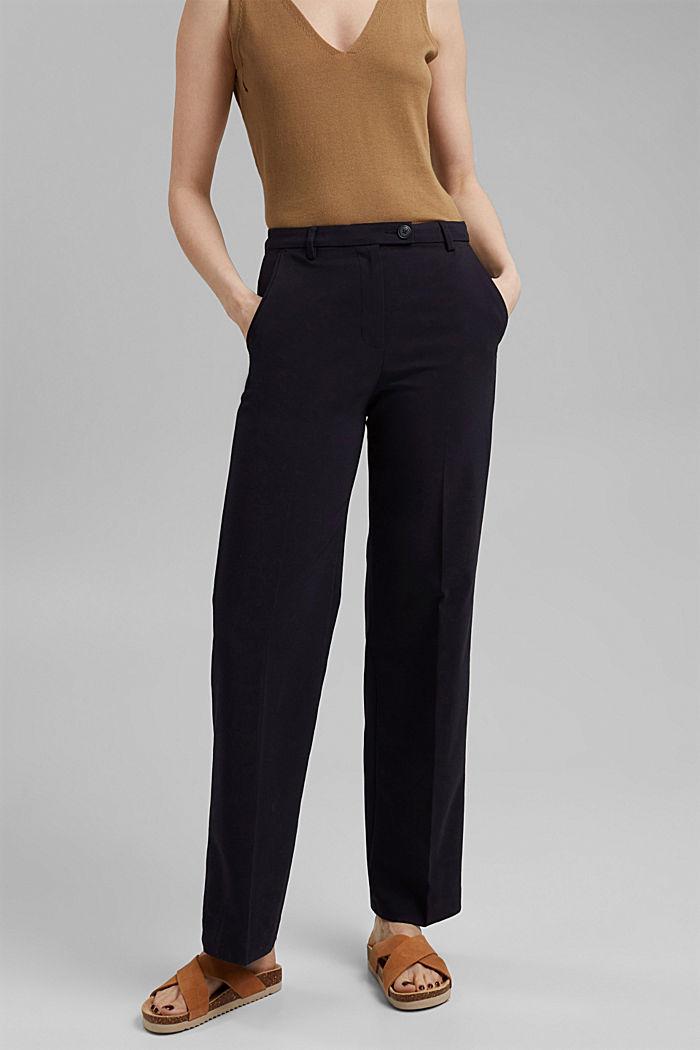 Business pantalon van een katoenmix, NAVY, detail image number 6