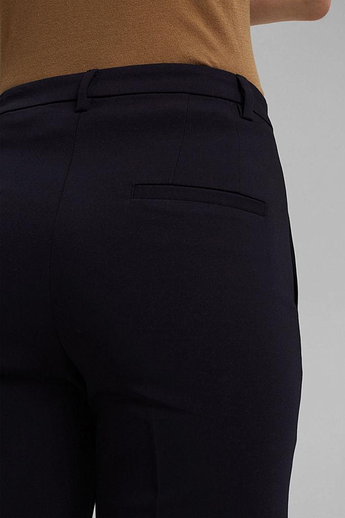 Business pantalon van een katoenmix, NAVY, detail image number 5