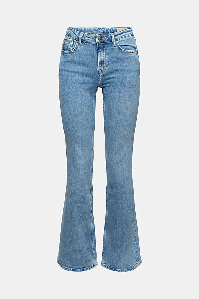 Jeans with flared leg, organic cotton