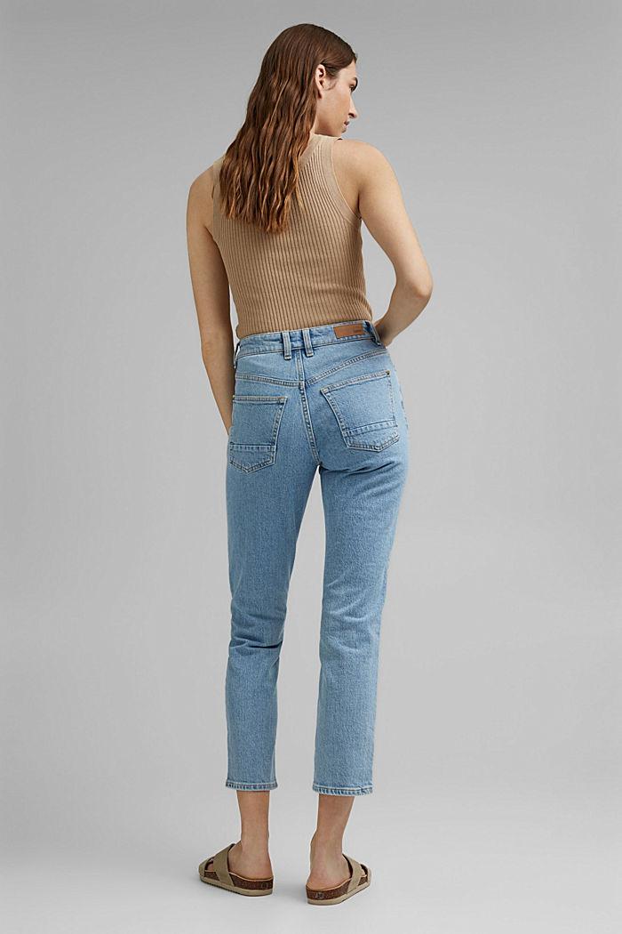 Jeans met 7/8-pijpen, BLUE LIGHT WASHED, detail image number 3