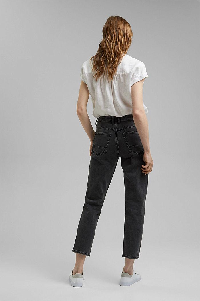 High-Rise-Jeans in 7/8-Länge, Bio-Baumwolle, BLACK DARK WASHED, detail image number 3