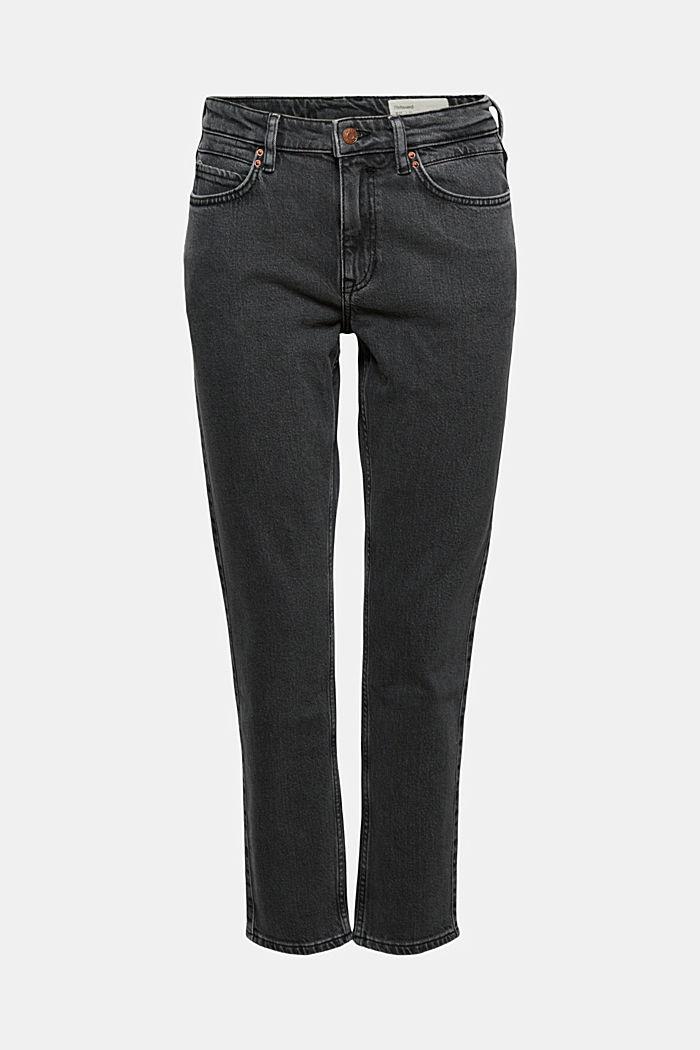 High-Rise-Jeans in 7/8-Länge, Bio-Baumwolle, BLACK DARK WASHED, detail image number 6