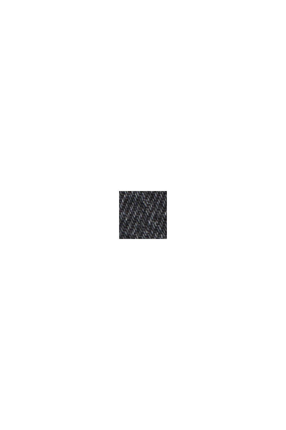 Jean taille haute de longueur 7/8, coton bio, BLACK DARK WASHED, swatch
