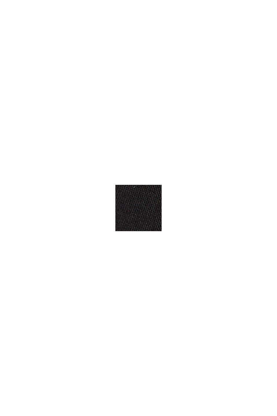 Med bælte: bermudashorts i bomuldsstretch, BLACK, swatch