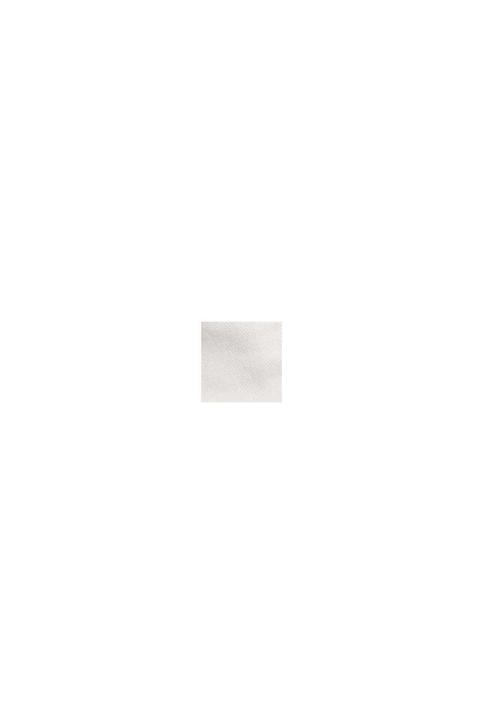 Med bælte: bermudashorts i bomuldsstretch, WHITE, swatch